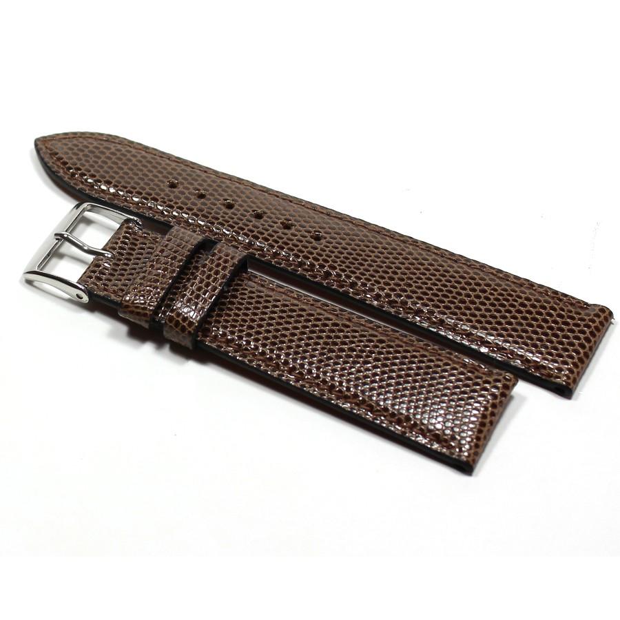 Bracelet luxe cuir exotique de l zard v ritable marron bracelet de montre cuir homme for Bracelet cuir homme luxe