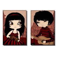 Magnets L'accordéoniste et le guitariste