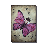Magnet Papillon rose