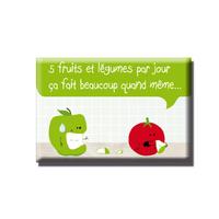 Magnet 5 fruits et légumes par jour