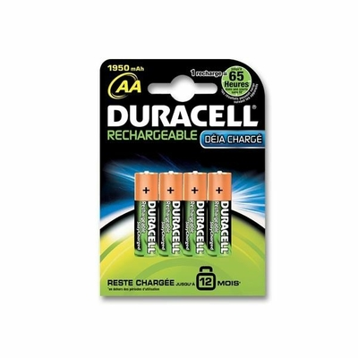 Duracell Pile Rechargeable - AAx4 (LR6)