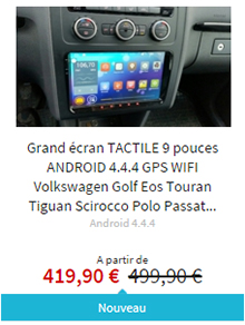 Android 9 pouces VW