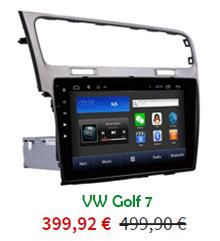 Ecran tactile 10 pouces VW Golf 7