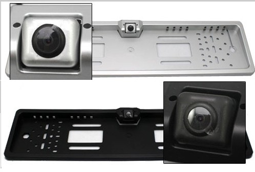 cameras de recul plaque immatriculation transmission filaire ou sans fil autoradio. Black Bedroom Furniture Sets. Home Design Ideas