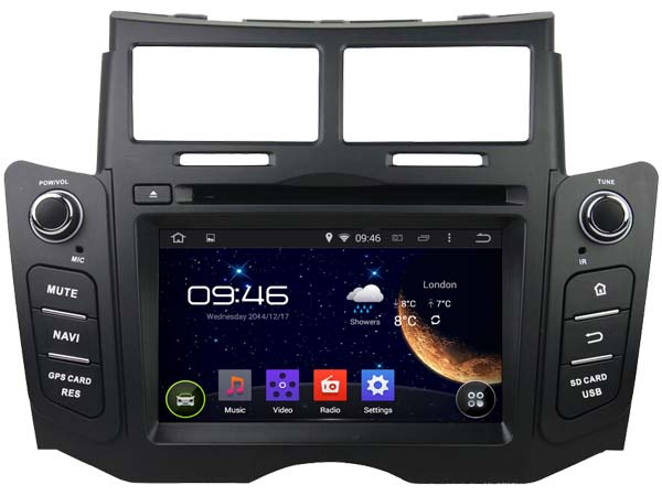 autoradio android 7 1 gps waze mirrorscreen toyota yaris. Black Bedroom Furniture Sets. Home Design Ideas