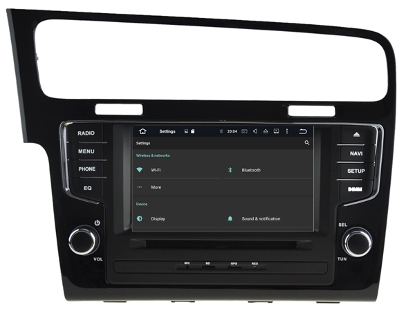 autoradio android 6 0 gps waze dvd bluetooth volkswagen golf 7 autoradio. Black Bedroom Furniture Sets. Home Design Ideas
