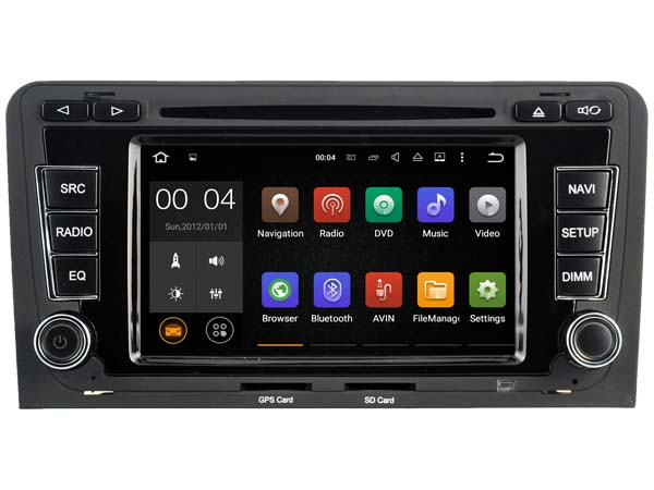 autoradio android 7 1 gps audi a3 wifi dvd usb bluetooth. Black Bedroom Furniture Sets. Home Design Ideas