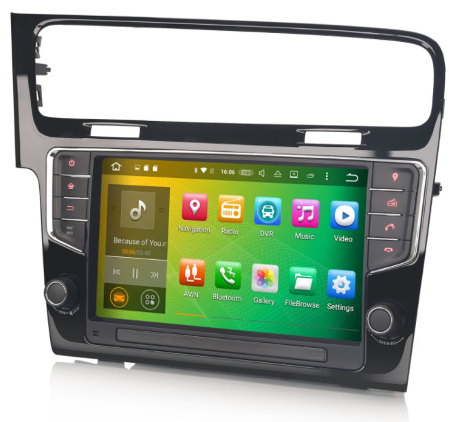 autoradio android 7 1 gps waze dvd bluetooth volkswagen golf 7 autoradio. Black Bedroom Furniture Sets. Home Design Ideas