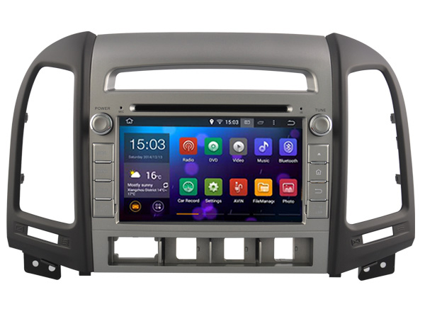 autoradio android 8 1 gps wifi dvd bluetooth usb hyundai santa fe autoradio. Black Bedroom Furniture Sets. Home Design Ideas