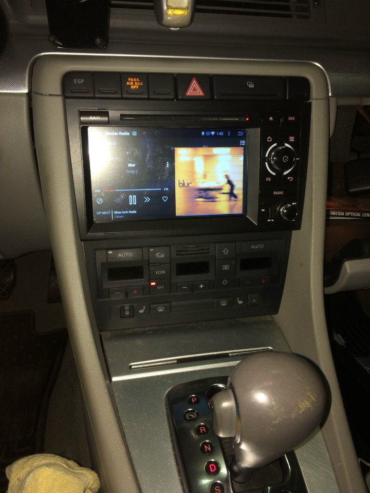 autoradio android 4 4 4 gps audi a4 wifi dvd bluetooth autoradio. Black Bedroom Furniture Sets. Home Design Ideas
