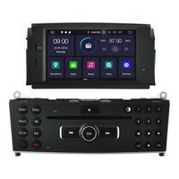 Autoradio Android 9.0 GPS DVD écran tactile Mercedes Benz Classe C W204 de 2007 à 2011