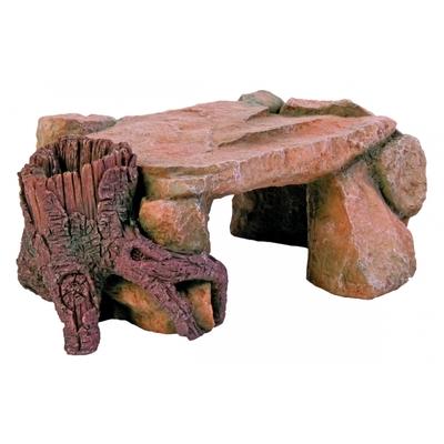 Rocher plateau avec tronc 25cm