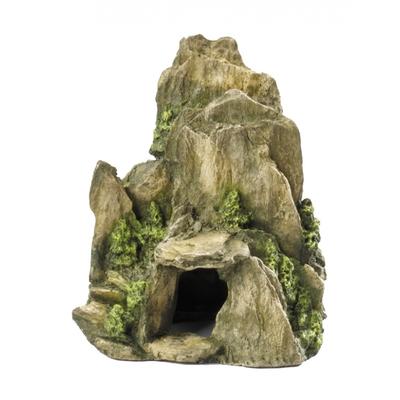 Deco pierre avec mousse Vert ML - 19CM