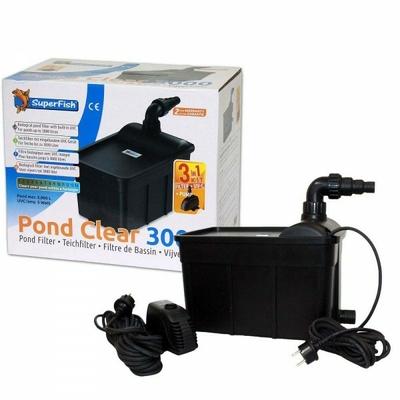 Pond Clear 3000 Kit - Filtre biologique avec UVC 5W & pompe ECO 1000