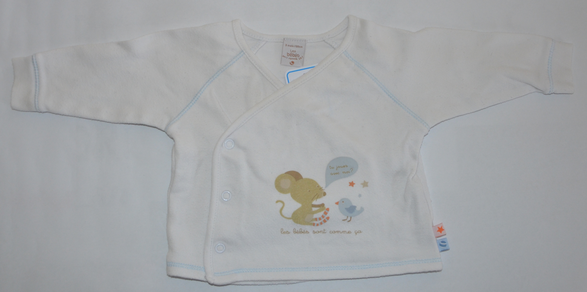 maillot garçon 3 mois absorba blanc bleu occasion