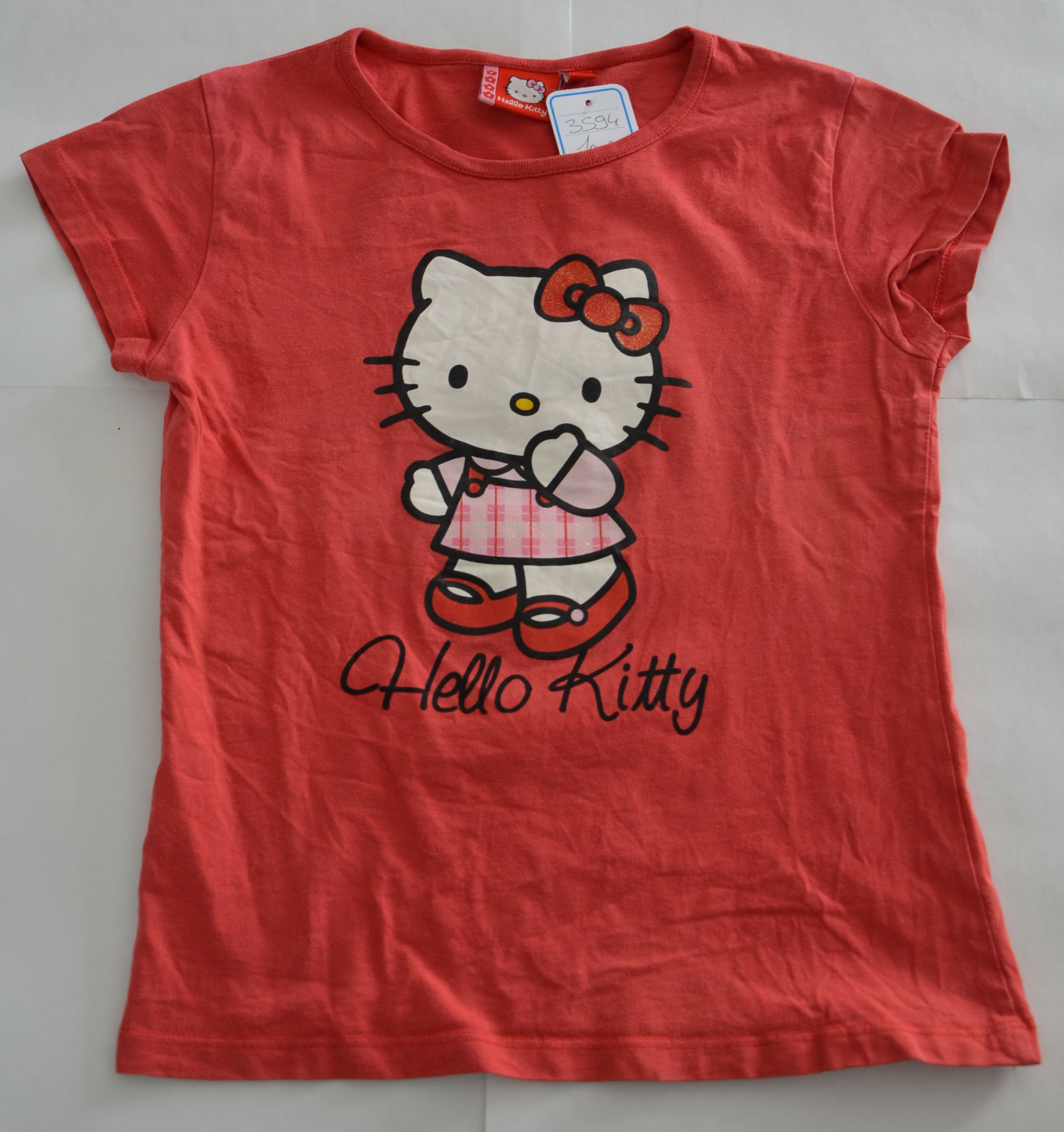 Haut fille 10 ans Hello Kitty rouge clair