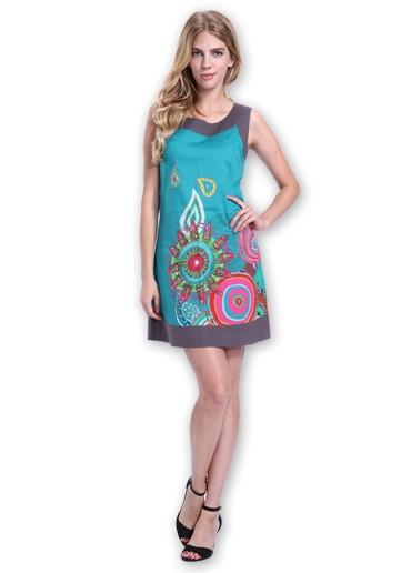 Robe ethnique robe coton du monde marla bleu 36 au 48
