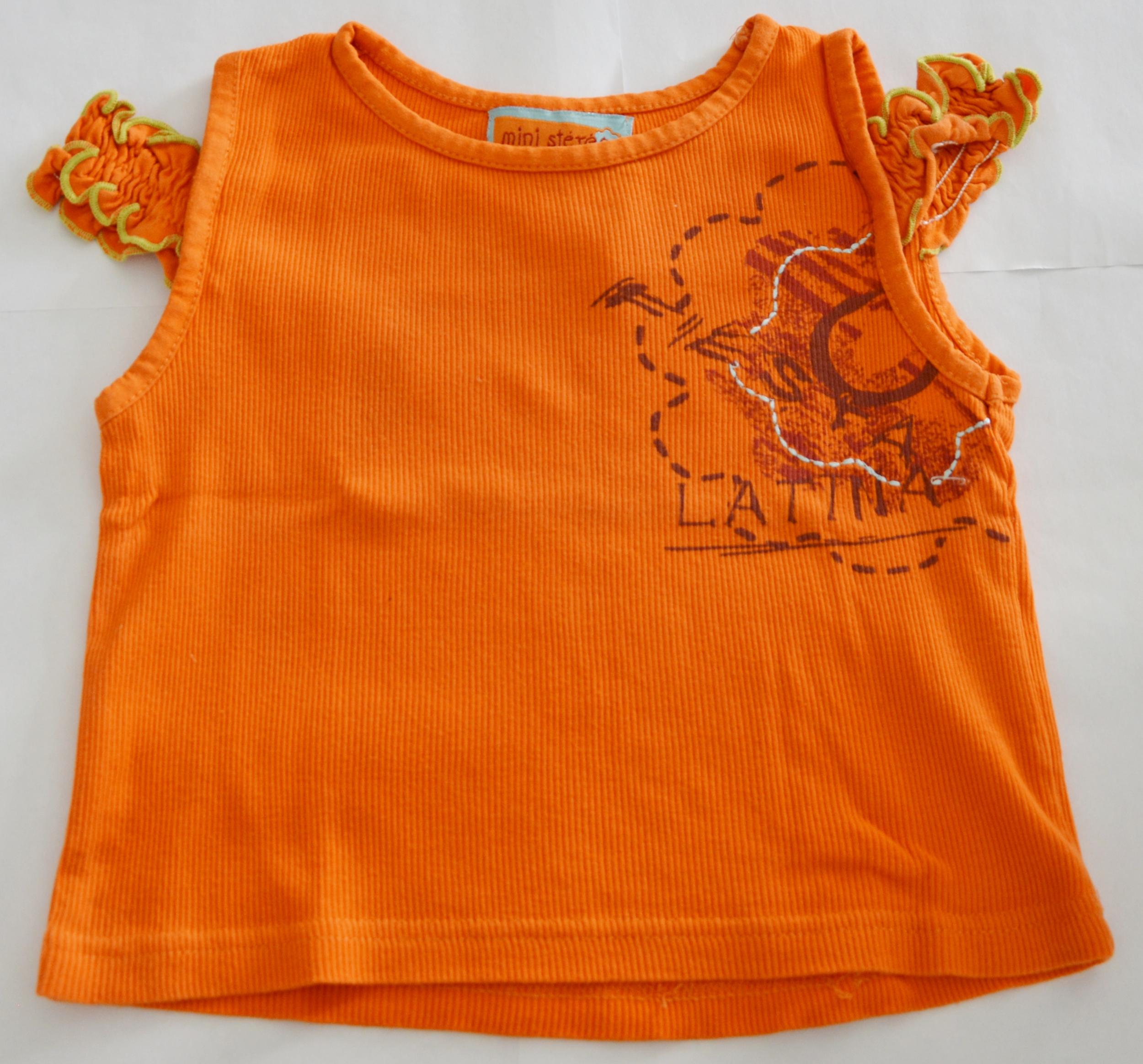 haut fille 4 ans mini stéréo orange occasion