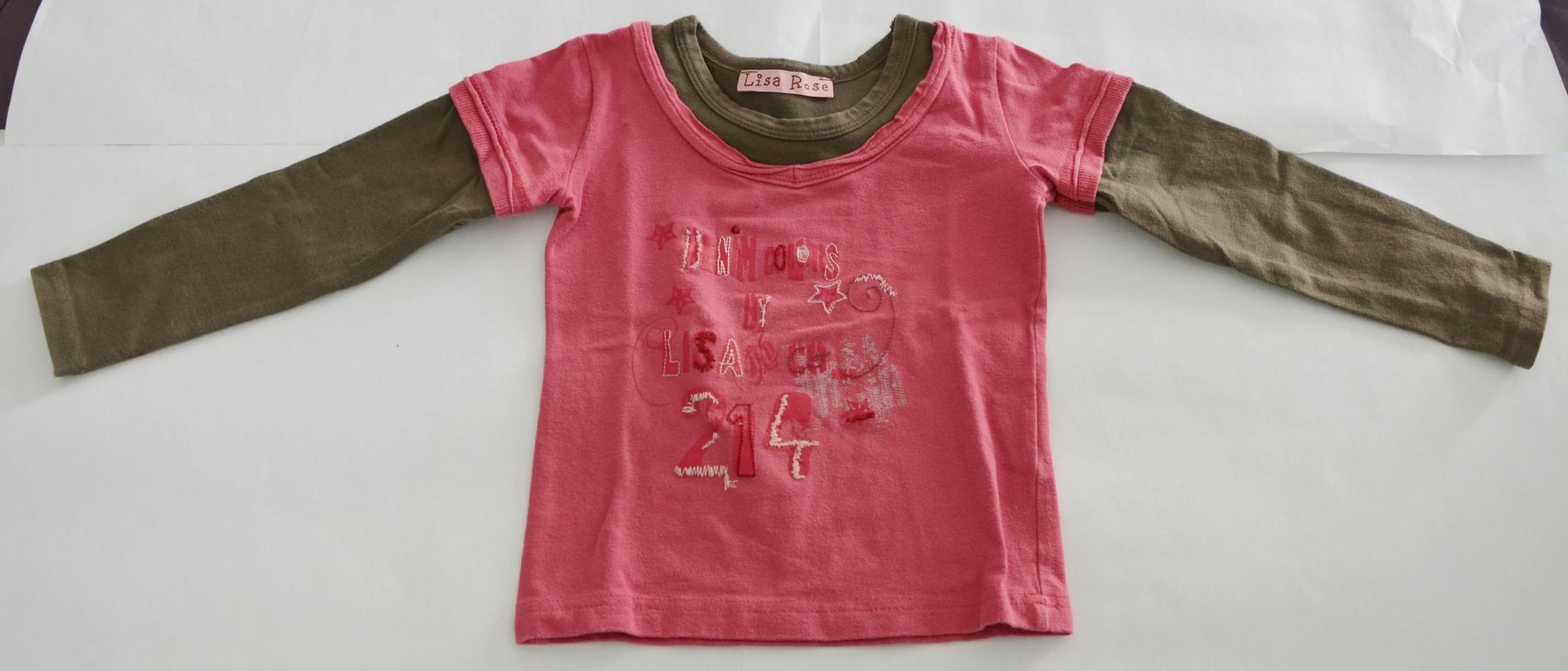 haut fille 4 ans lisa rose marron rose
