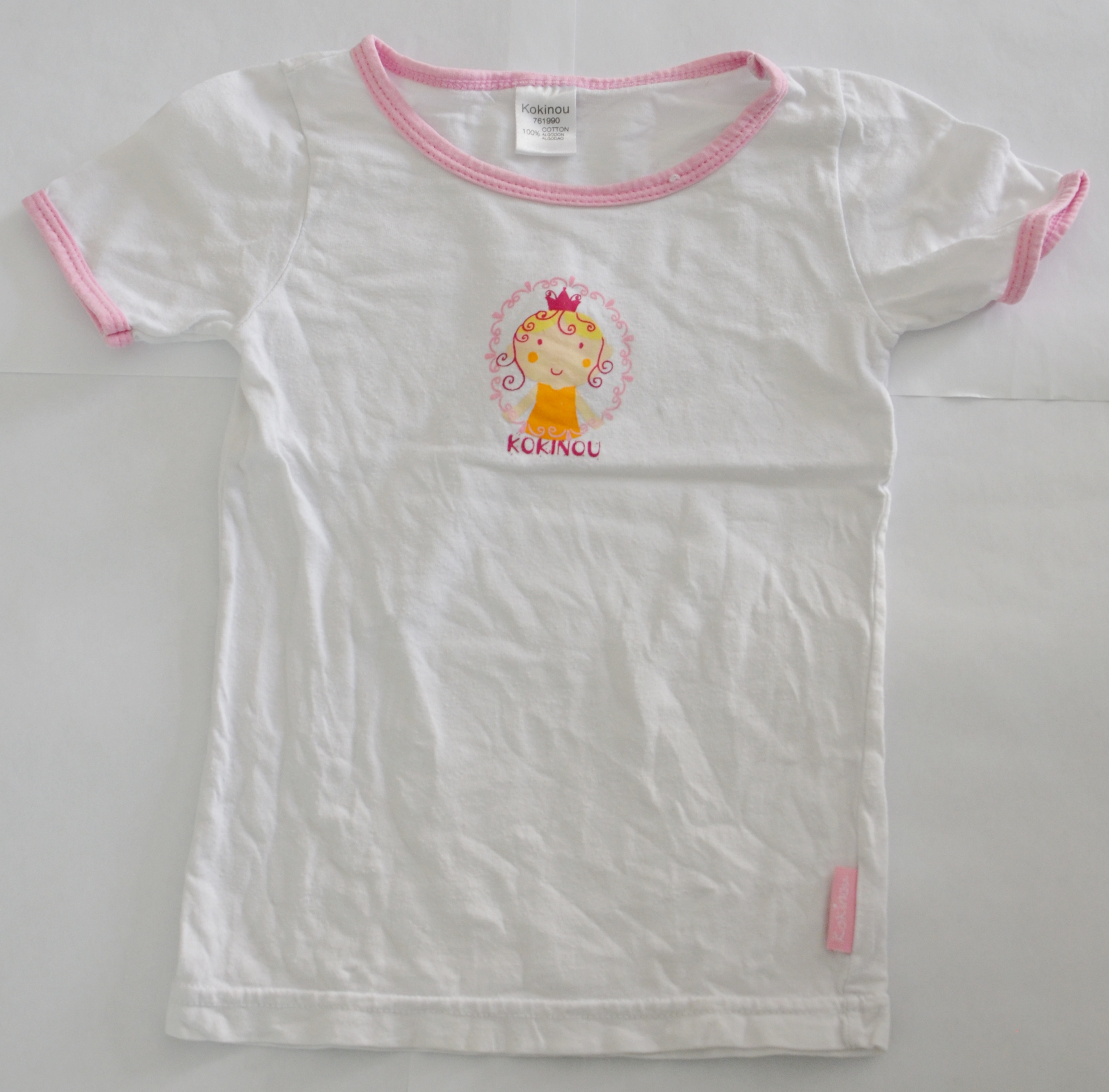 maillot fille 2-3 ans kokinou blanc et rose occasion