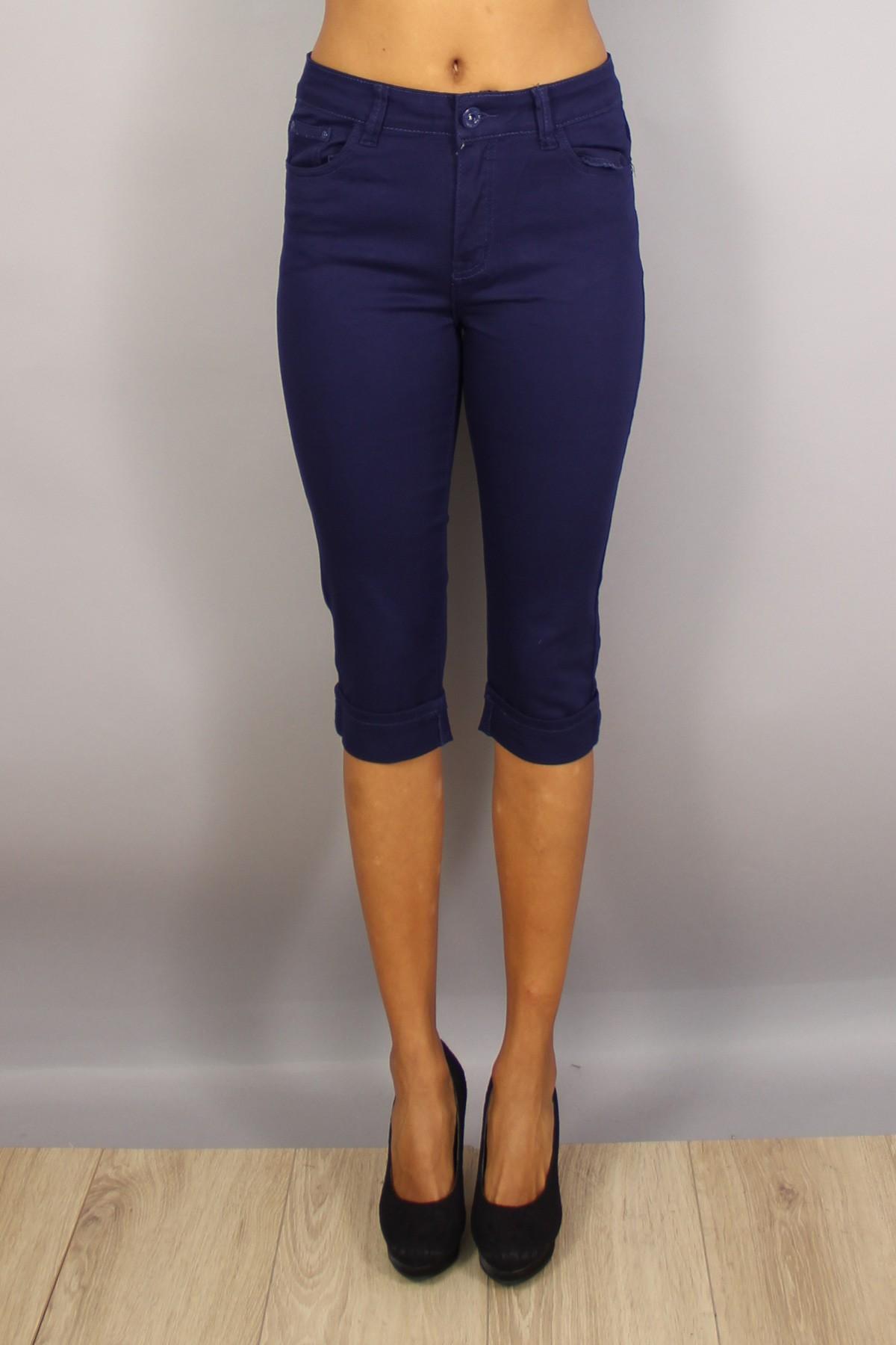 Bermuda femme marine taille haute bleu du 38 au 46