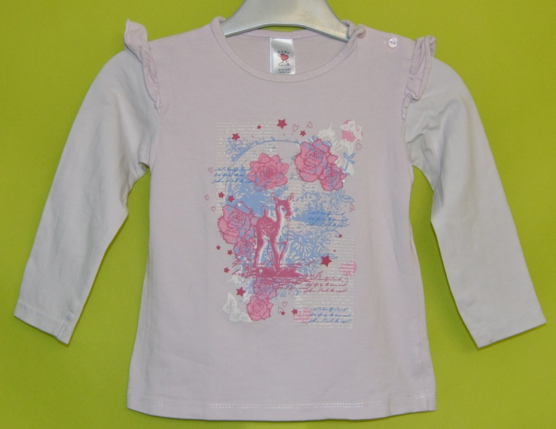 tee shirt fille c&a rose 2-3 ans occasion
