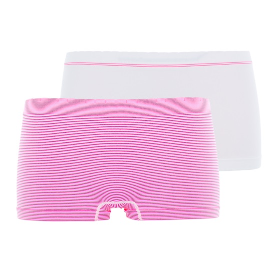 Lot de 2 shortys Billet Doux zen attitude blanc rose bubble gum