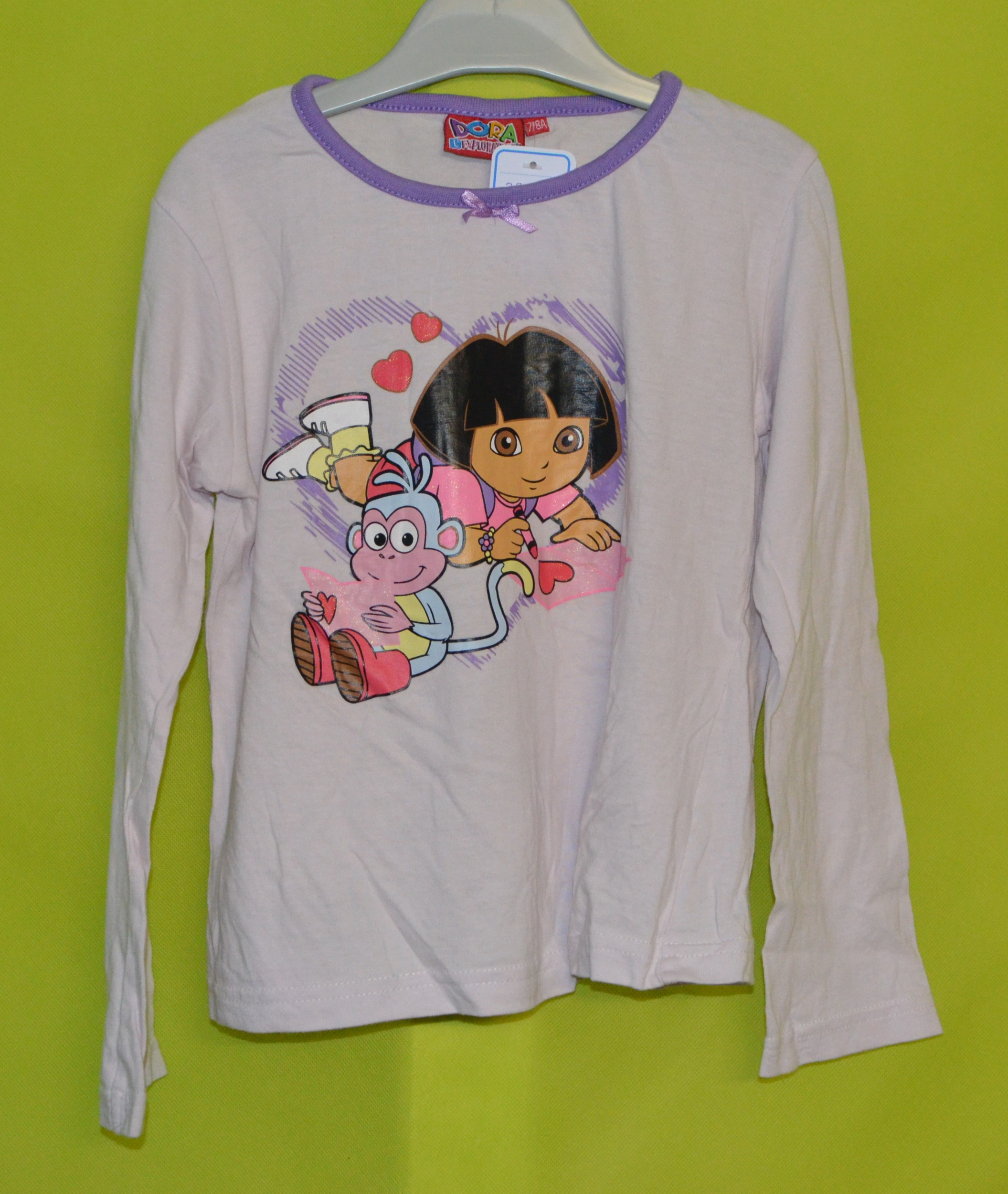 tee shirt manches longues 7/8 ans fille rose dora l\'exploratrice occasion