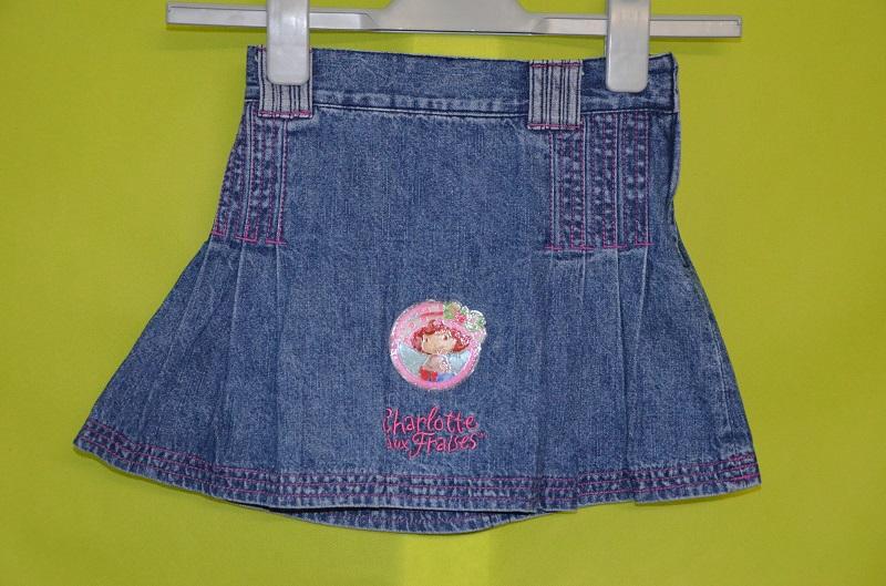 jupe en jean 6 ans fille bleu charlotte aux fraises occasion