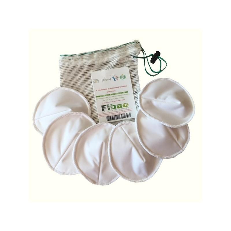 Coussinets d\'Allaitement lavables en Fibre de Bambou fibao fabriqué en France