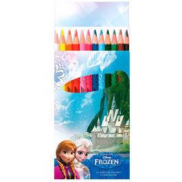 12 crayon de couleur La reine des neiges