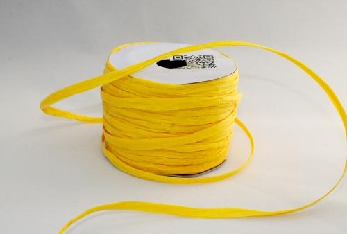 BOBINE DE RAPHIA 4MM*20M - jaune