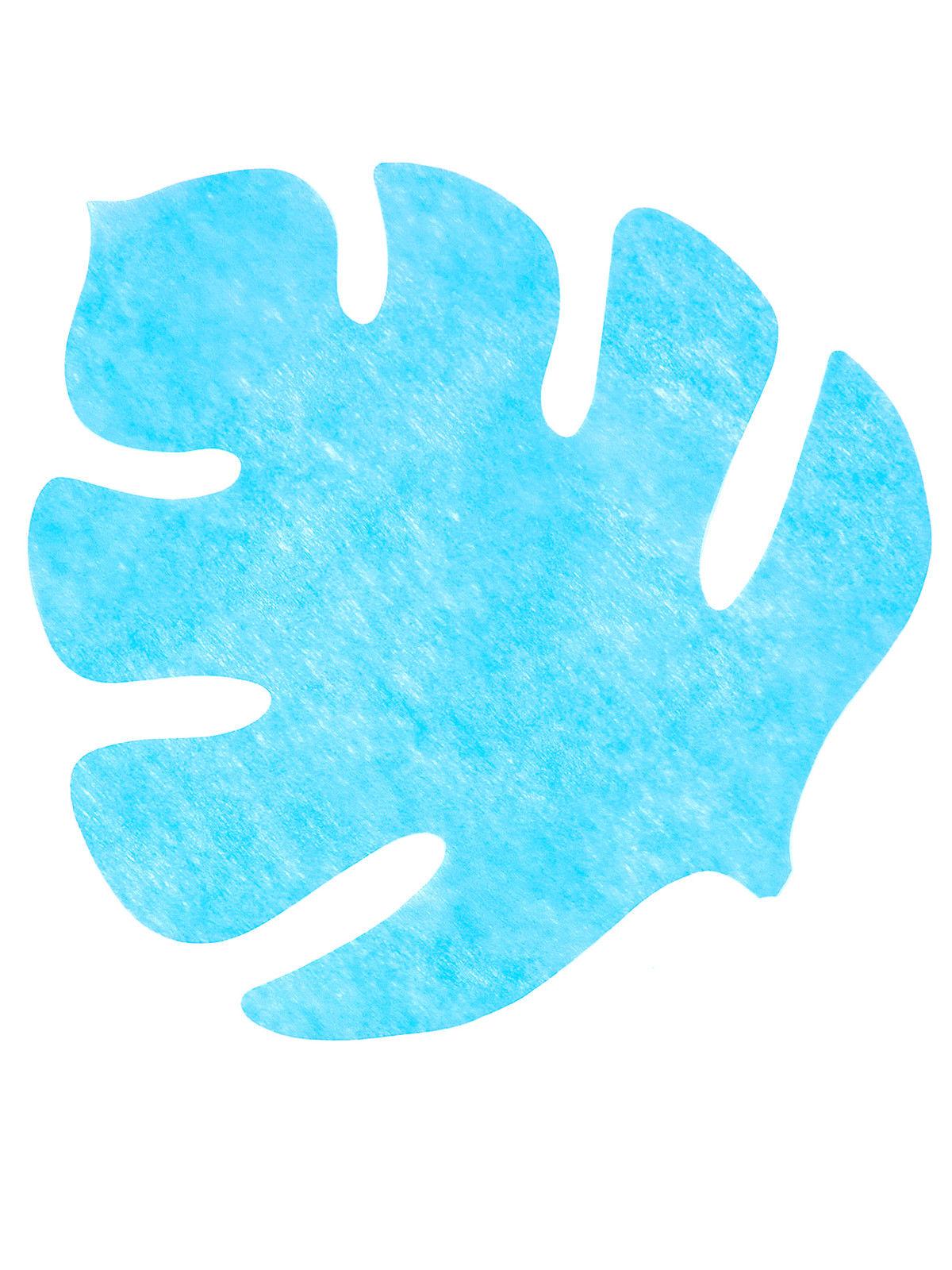 4 Sets de table en forme de feuille bleu