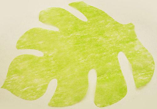 4 Sets de table en forme de feuille vert