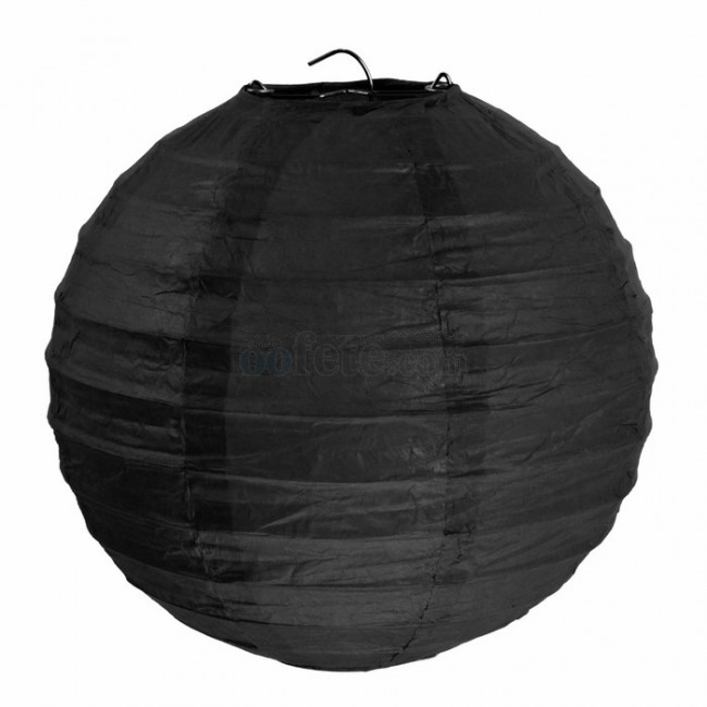 Sachet de 2 lanternes 30 cm Noir