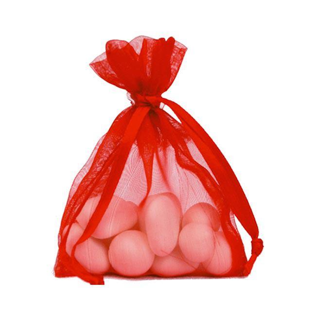 10 sachets Organdi unicolores - rouge