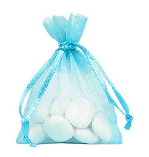 10 sachets Organdi unicolores - bleu