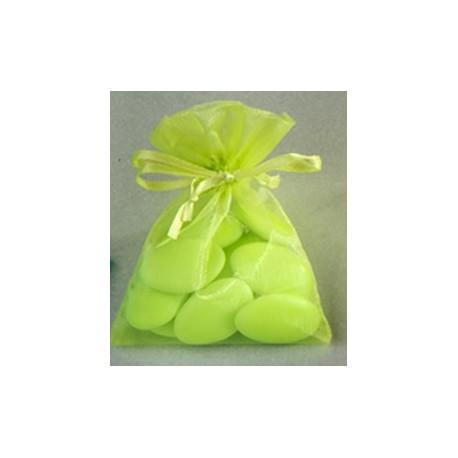 10 sachets Organdi unicolores - vert