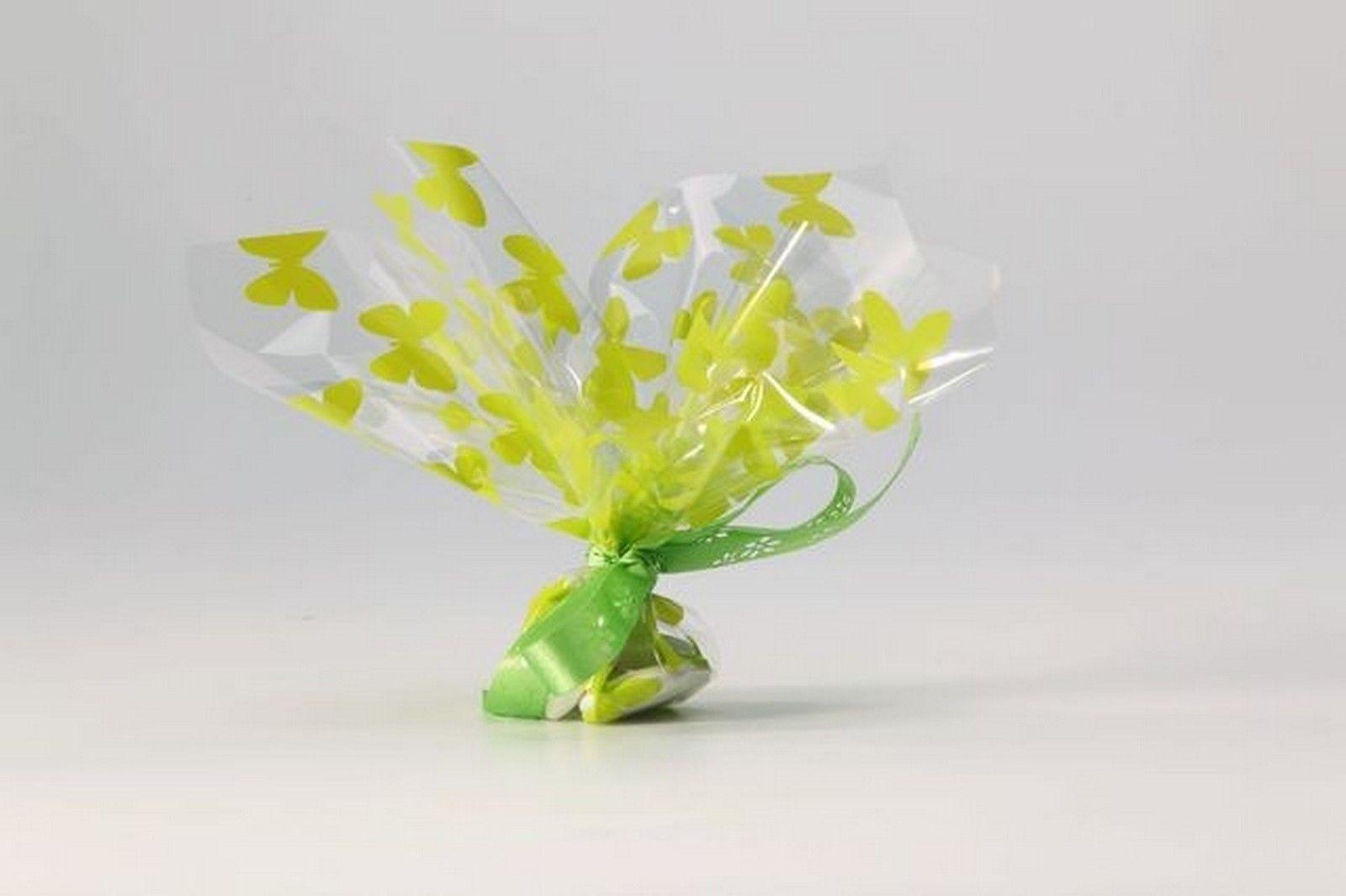 50 Tulles plastique papillon vert