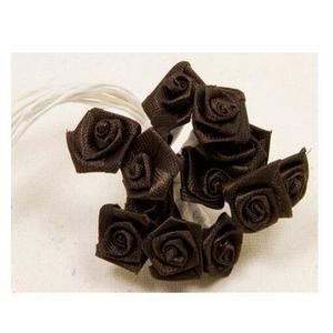 Sachet de 72 mini-roses satin Chocolat