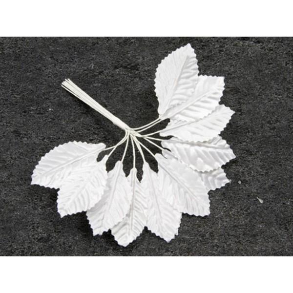 36 feuilles tissu - Blanc