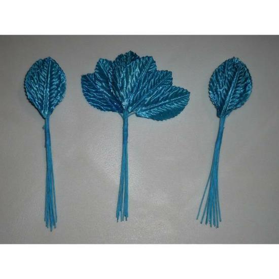 36 feuilles tissu - turquoise