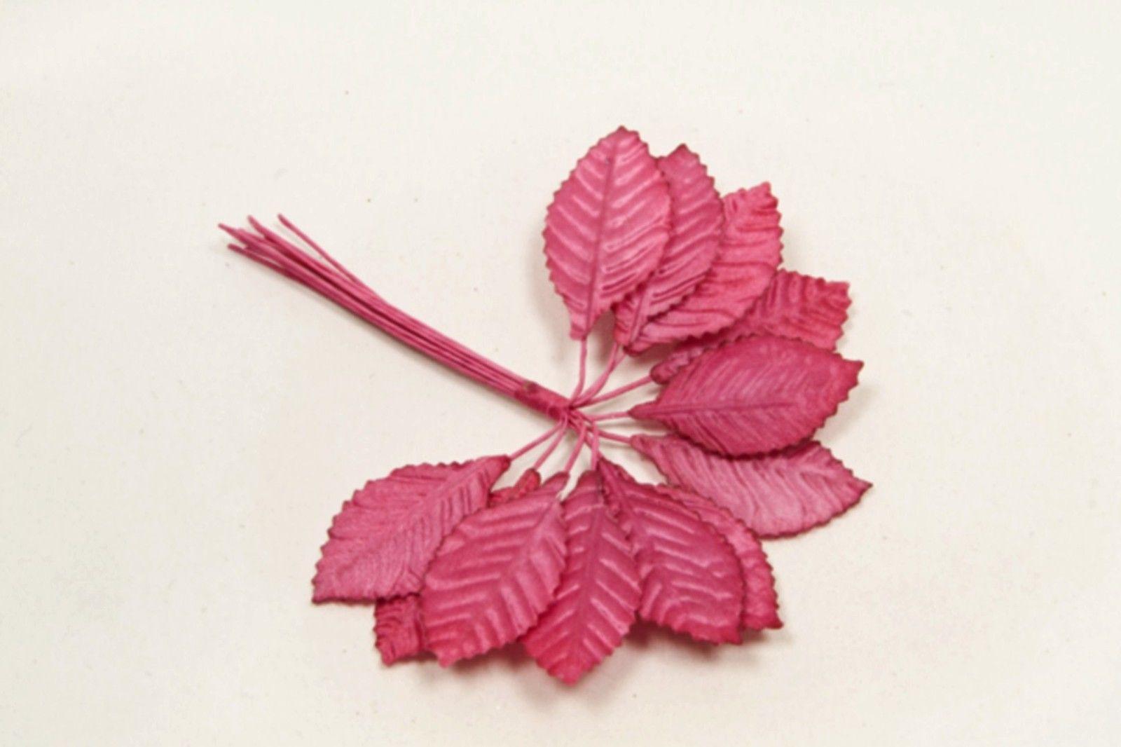 36 feuilles tissu - fushia