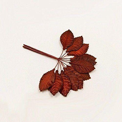 36 feuilles tissu - bordeaux