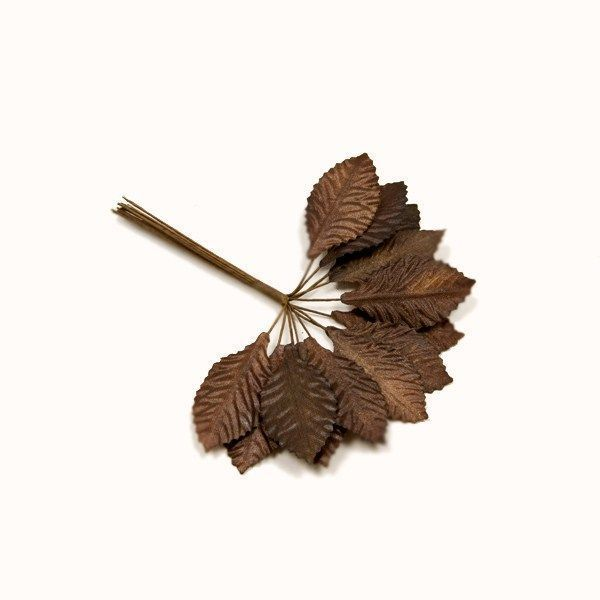 36 feuilles tissu - marron
