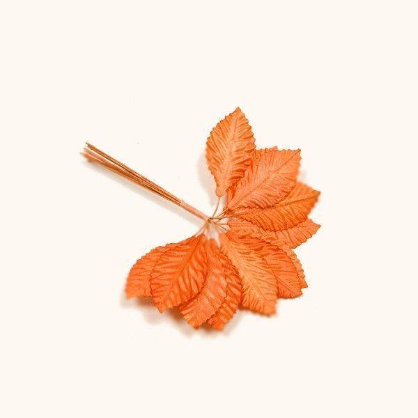 36 feuilles tissu - orange