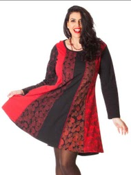 Robe rouge grande taille aller simplement rop307
