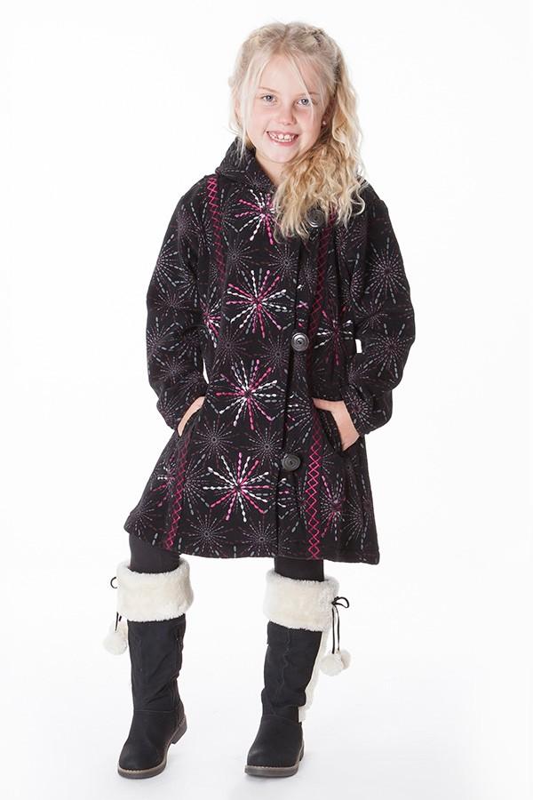 manteau polaire ethnique fille aller simplement KIDVE405 3 ans au 10 ans