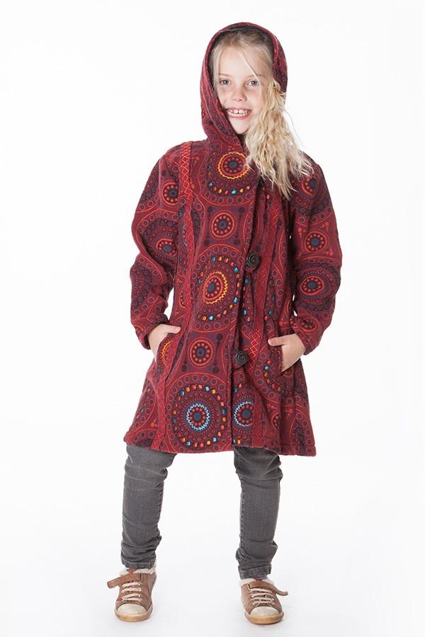 manteau polaire ethnique fille aller simplement KIDVE404 3 ans au 10 ans