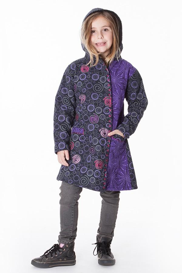 manteau polaire ethnique fille aller simplement KIDVE401 3 ans au 10 ans